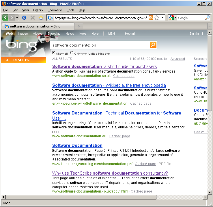Domain names, search terms, and search engine rank in Bing
